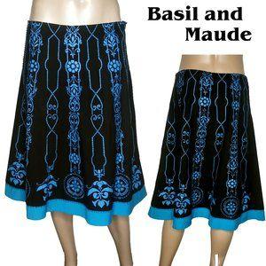 Basil and Maude Beaded Embellished Midi Skirt 12